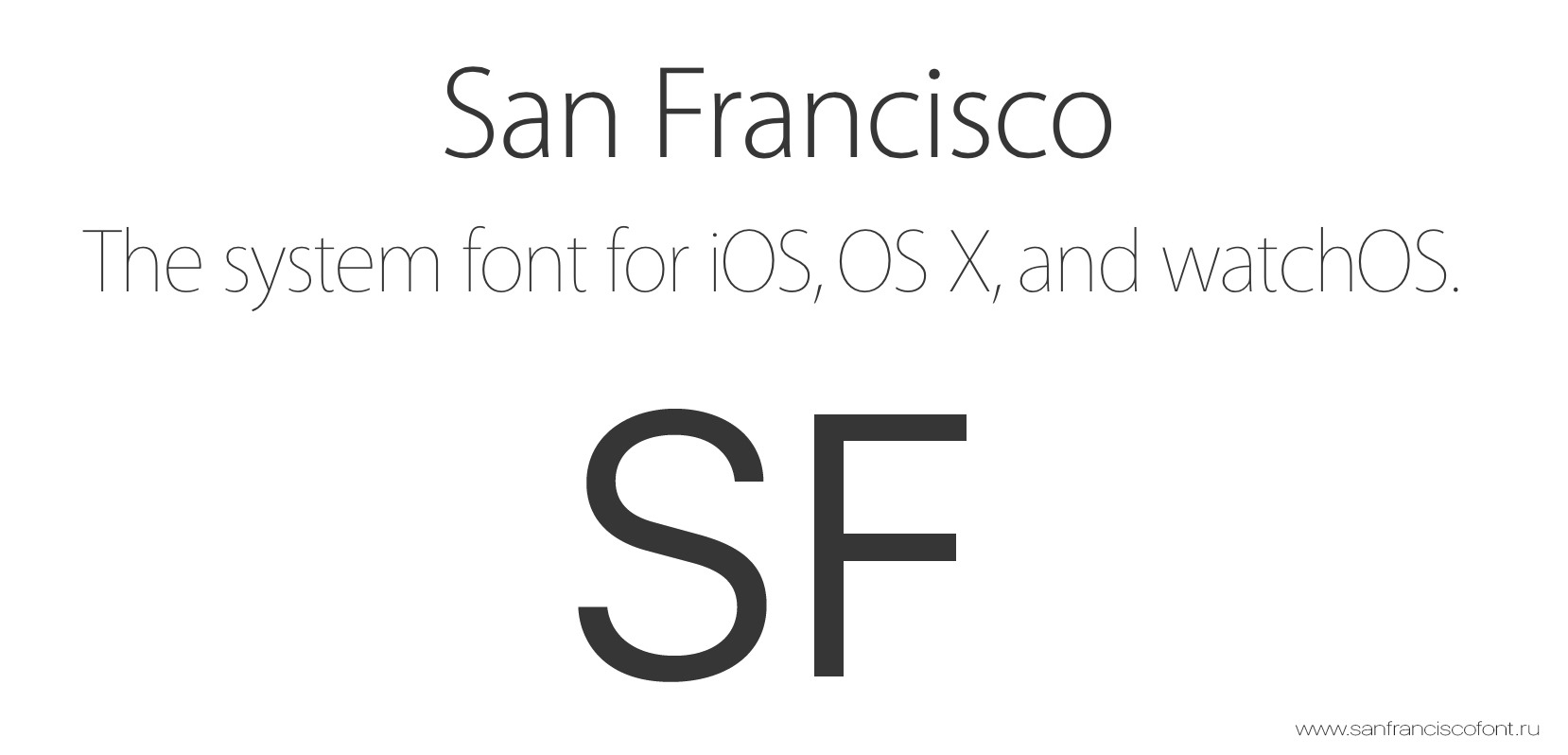 Font San Francisco(SF UI)