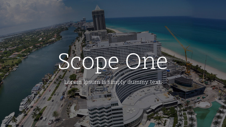 Font Scope One