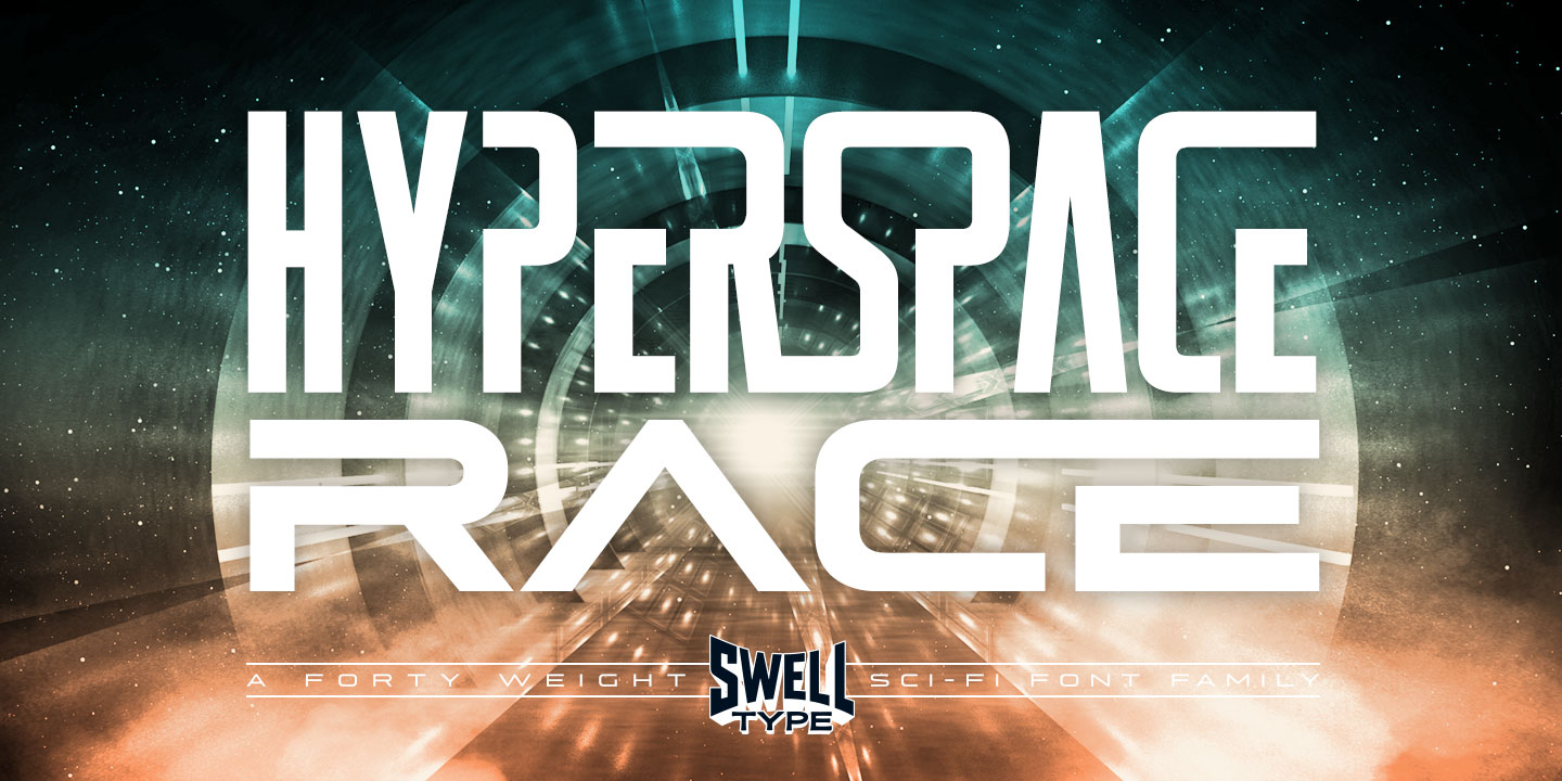 Font Hyperspace Race