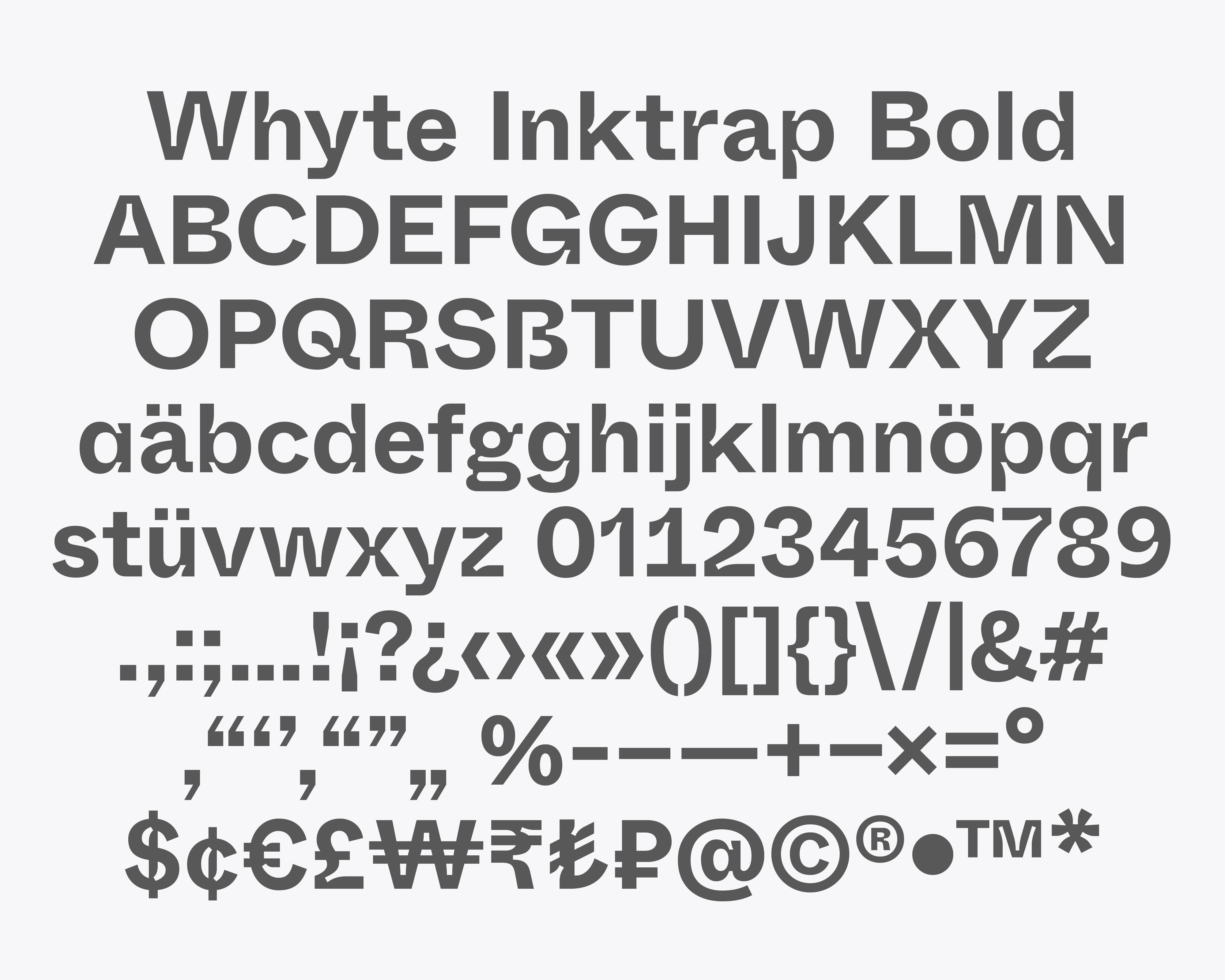 Font Whyte Inktrap
